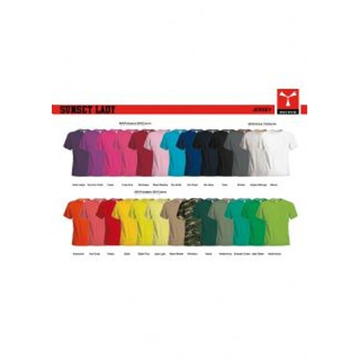 T-shirt donna colorata, manica corta