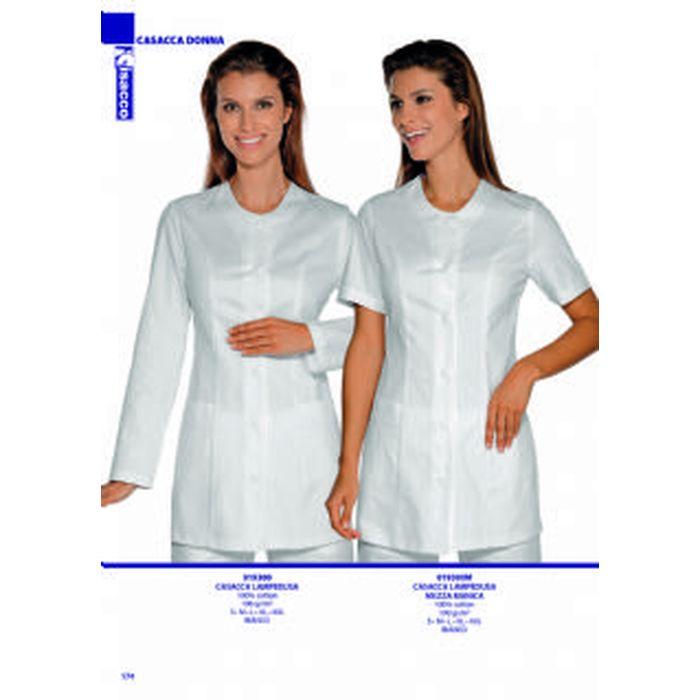 S Manica Lunga Isacco Casacca Taipei Bianco Bianco 100/% Cotone